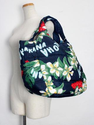 フララニ(Hula Lani)Mサイズトートバッグ プルメリアレイアロハ
