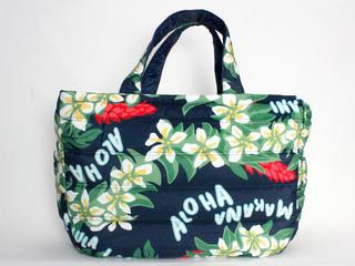フララニ(Hula Lani)Lサイズトートバッグ プルメリアレイアロハ