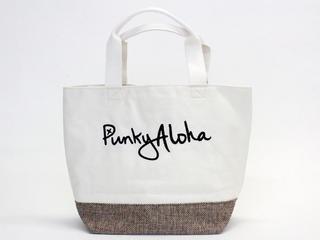 パンキーアロハ(Punky Aloha)帆布切り替えトートバッグ YEL1