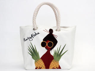 パンキーアロハ(Punky Aloha)帆布ロープトートバッグ YEL1