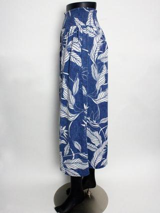 UVカットサマー天竺ガウチョパンツ ブルー
