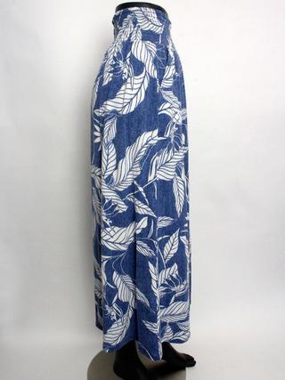 UVカットサマー天竺マキシスカート ブルー