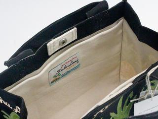 フララニ(Hula Lani)16oz帆布スクエアトートバッグ ALOHAブラック