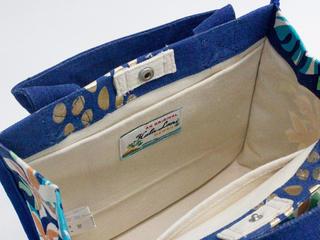 フララニ(Hula Lani)16oz帆布スクエアトートバッグ ALOHAブルー