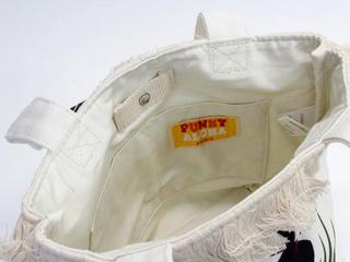 パンキーアロハ(Punky Aloha)帆布フリンジトートバッグ YEL1