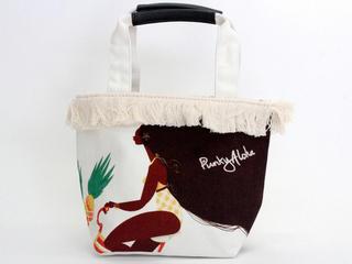 パンキーアロハ(Punky Aloha)帆布フリンジトートバッグ YEL2