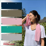 UV対策&吸熱冷却&虫よけ&抗菌抗ウイルス BUG OFF マルチタオル5色