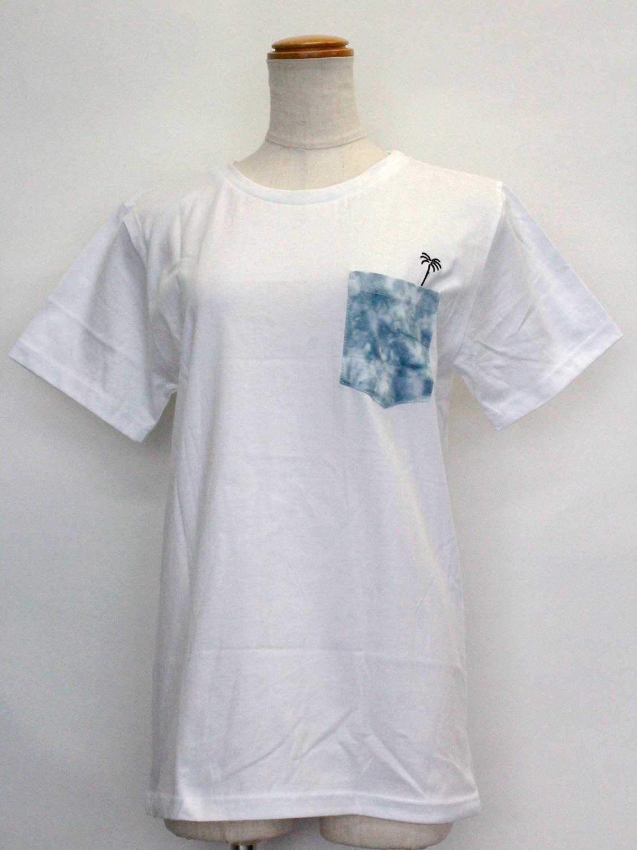 ハレイワ公式Tシャツ チェストポケット ホワイト