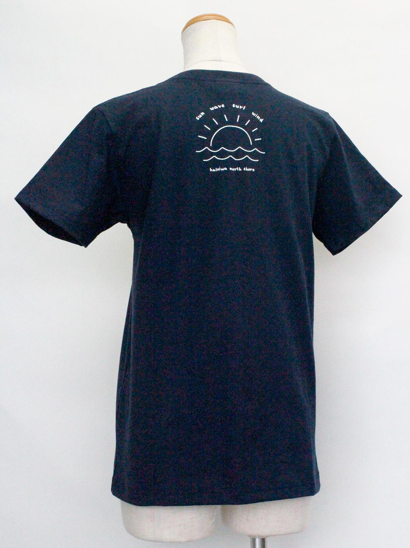 ハレイワ公式Tシャツ チェストポケット ネイビー