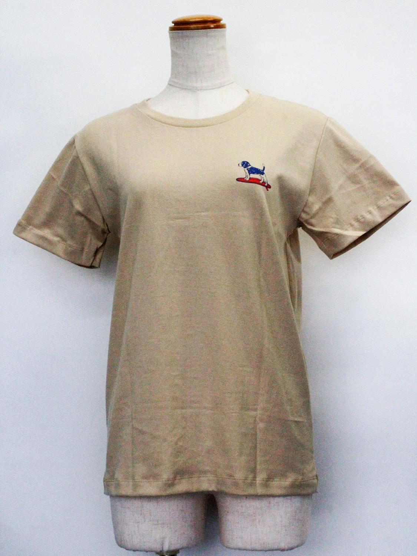 ハレイワ公式Tシャツ ALOHAドッグ サンドベージュ