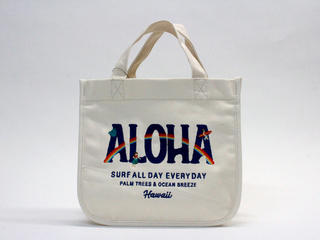 PUKANA 刺繍ミニトート2021 ALOHAホワイト