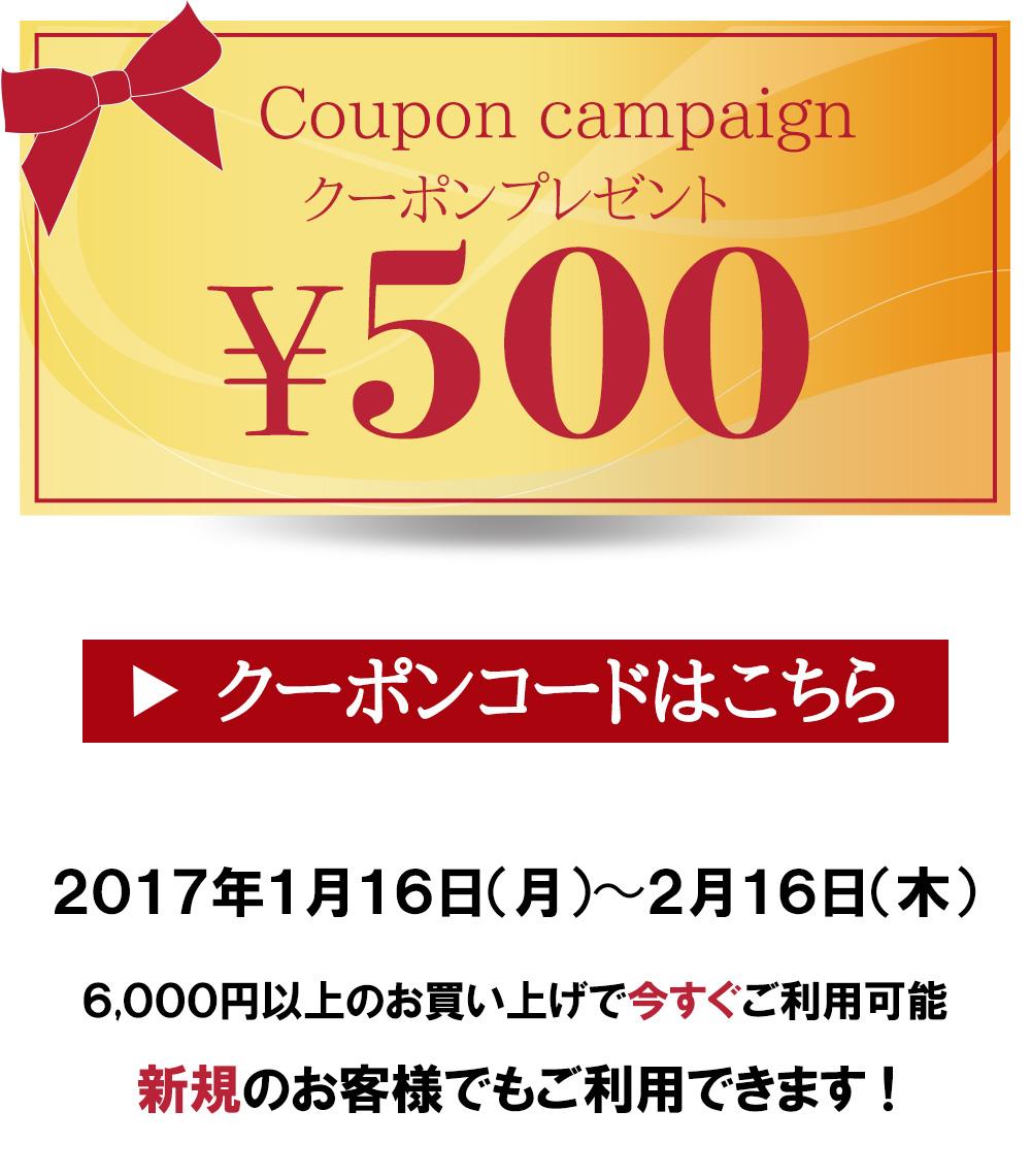 ララフラからのお年玉♪500円クーポンプレゼント!