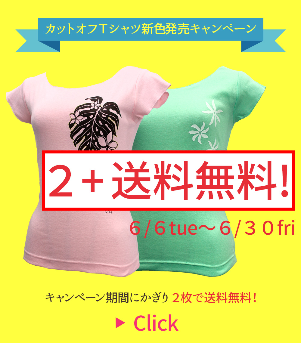 カットオフTシャツ新色発売キャンペーン♪「2枚で送料無料」!