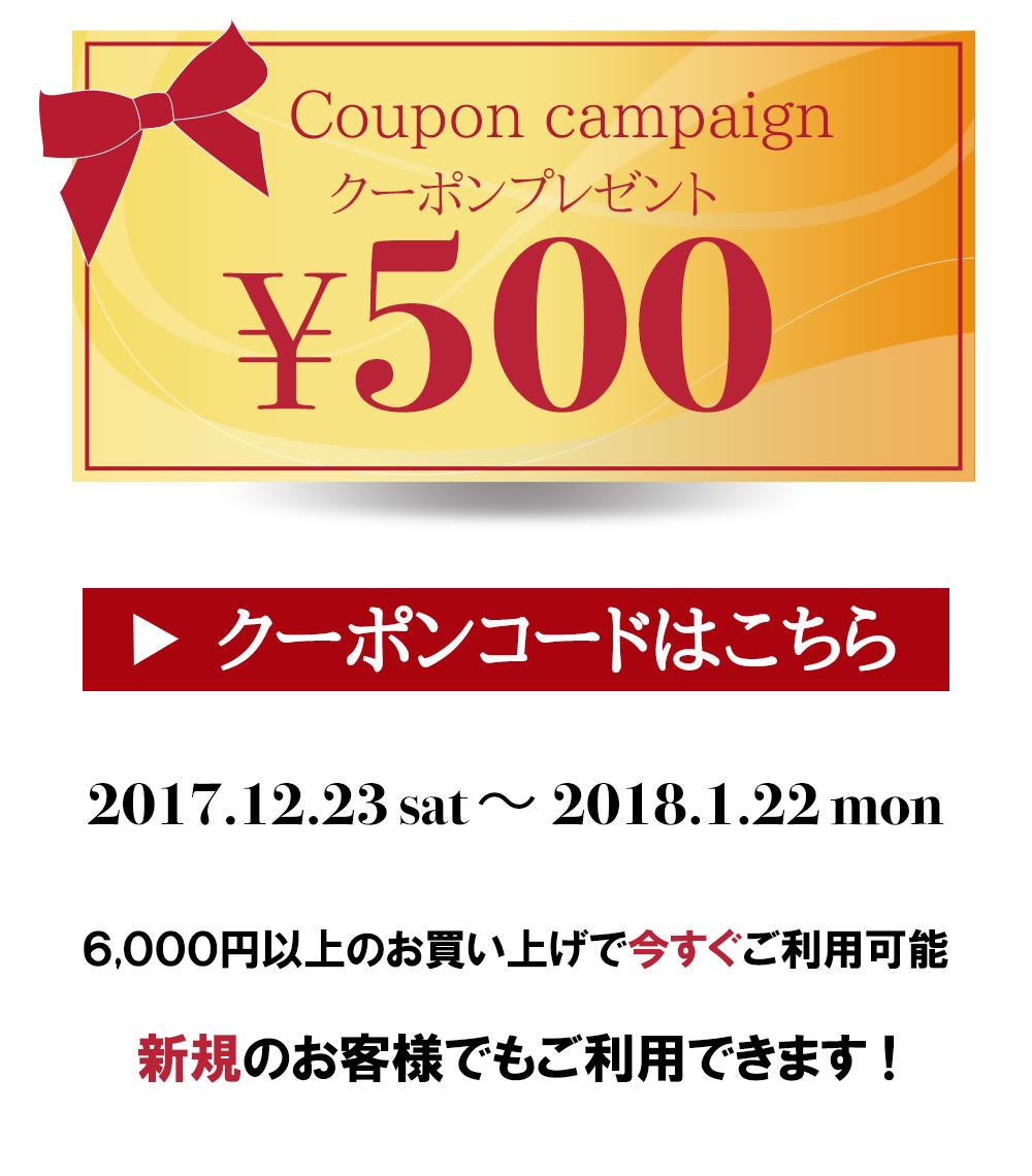 500円クーポン差し上げます!ララフラからのX'masプレゼント&お年玉♪