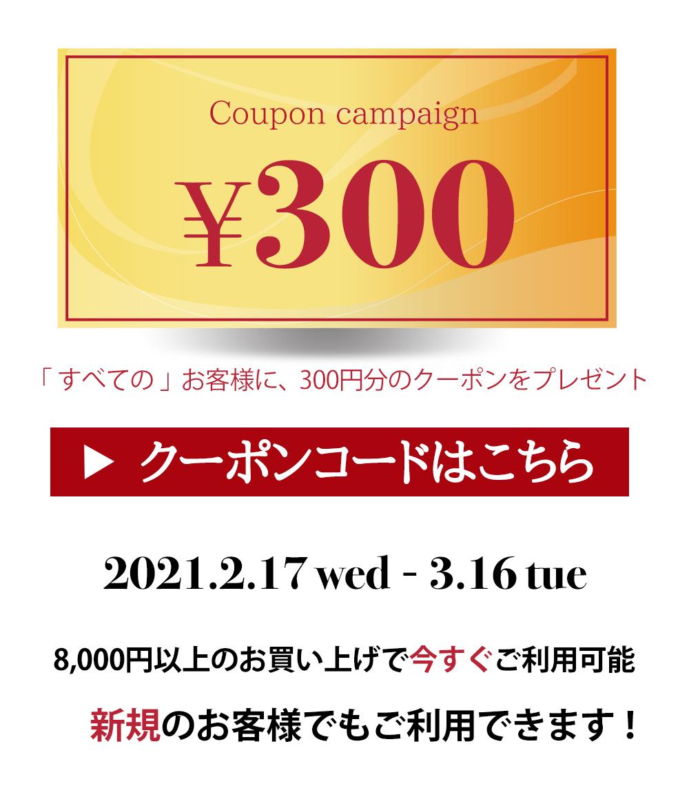 300円分進呈!キャンペーン♪