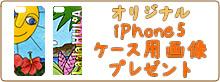 オリジナル iPhone5ケース用画像プレゼント
