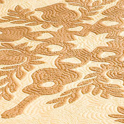 ハワイアンキルト ベッドカバー フラ インプリメントの拡大画像