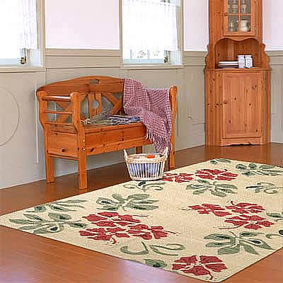 ハワイアン ラグ(平織り) ハイビスカス(マルチ)120cm×180cm