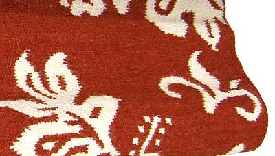 ハワイアン ラグ(平織り) ハイビスカス(テラコッタ)の拡大写真