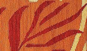 ハワイアン ラグ(平織り) パームリーフ(オレンジ)