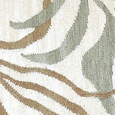 ハワイアン ラグ(平織り) パームリーフ(サンドグリーン)の生地拡大画像