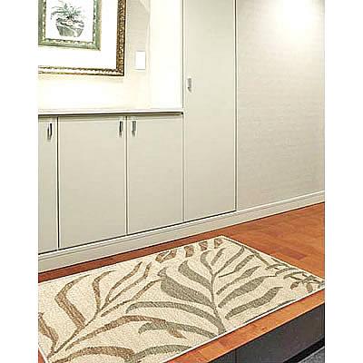 ハワイアン ラグ(平織り) パームリーフ(サンドグリーン)78cm×120cm