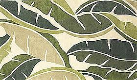 ハワイアン ラグ(段通織り) バナナリーフ(グリーン)