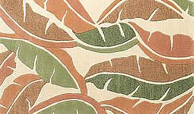 ハワイアン ラグ(段通織り) バナナリーフ(ピーチ)