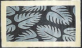 ハワイアン ラグ(段通織り) ラウアエファーン(ブルー)