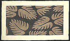 ハワイアン ラグ(段通織り) ラウアエファーン(チャコール)
