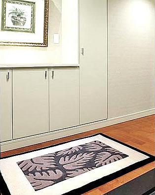 ハワイアン ラグ(段通織り) ラウアエファーン(チャコール)78cm×120cm