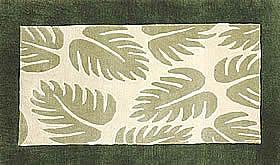 ハワイアン ラグ(段通織り) ラウアエファーン(グリーン)