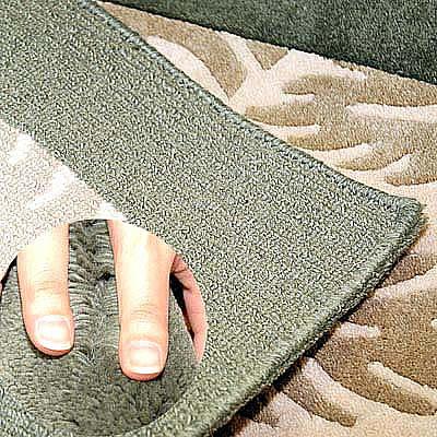 ハワイアン ラグ(段通織り) ラウアエファーン(グリーン)の毛並み
