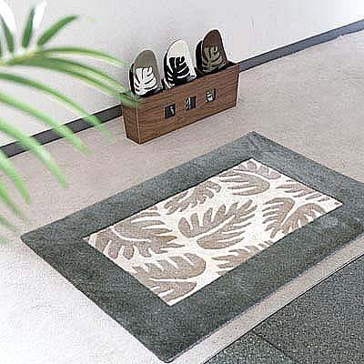 ハワイアン ラグ(段通織り) ラウアエファーン(グリーン)60cm×90cm