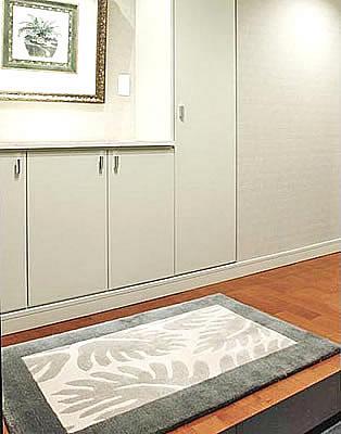 ハワイアン ラグ(段通織り) ラウアエファーン(グリーン)78cm×120cm