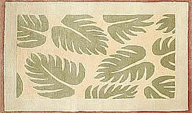 ハワイアン ラグ(段通織り) ラウアエファーン(ピーチ)