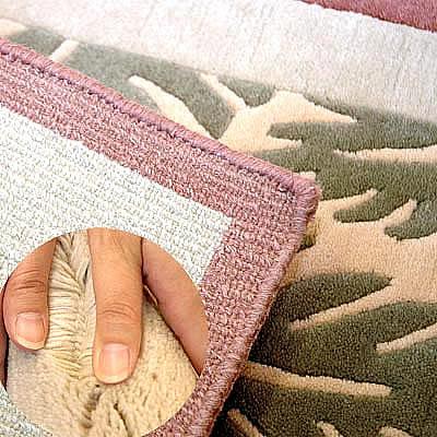 ハワイアン ラグ(段通織り) ラウアエファーン(ピーチ)の毛並み