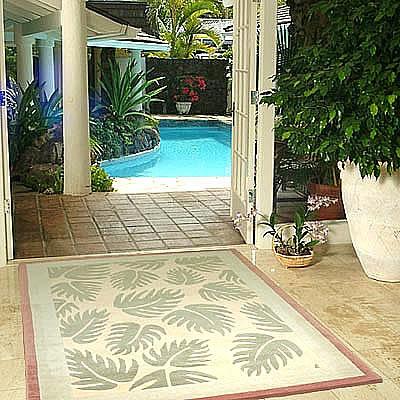 ハワイアン ラグ(段通織り) ラウアエファーン(ピーチ)150cm×210cm