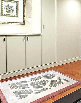 ハワイアン ラグ(段通織り) ラウアエファーン(ピーチ)78cm×120cm